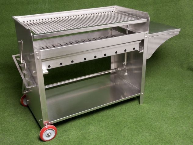 Deluxe edelstahlgrill xl holzkohle edelstahl grill ebay for Grill holzkohle
