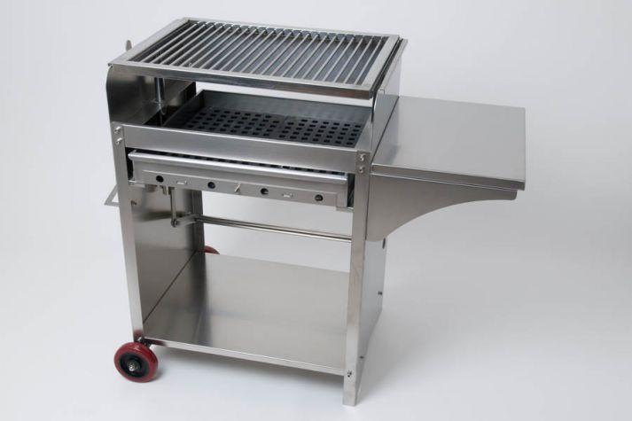 deluxe edelstahlgrill l holzkohle edelstahl grill ebay. Black Bedroom Furniture Sets. Home Design Ideas